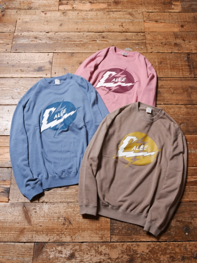 CALEE  「LIGHTNING LOGO CREW NECK SWEAT 」 クルーネックスウェット