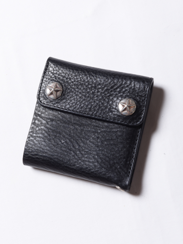 CALEE  「SILVER STAR CONCHO FLAP LEATHER SHORT WALLET」 レザーショートウォレット