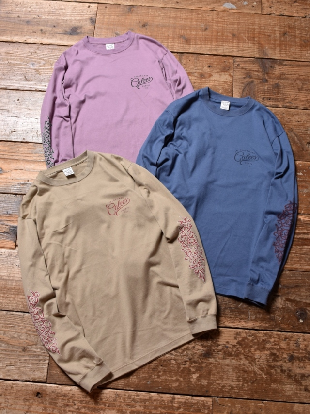 CALEE   「 FOLIAGE SCROLL L/S T-SHIRT」   プリントロンティー
