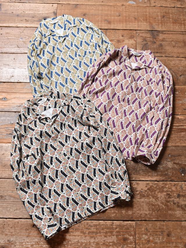 CALEE  「ALLOVER PAISLEY PATTERN L/S SHIRT」 オープンカラーシャツ