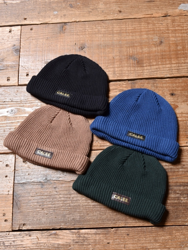 CALEE  「COTTON KNIT CAP」  コットンニットキャップ