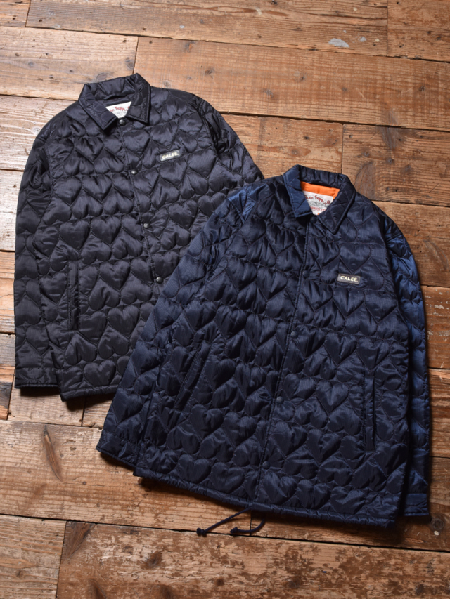 CALEE  「HEART QUILTING NYLON COACH JACKET」 キルティング ナイロンコーチジャケット