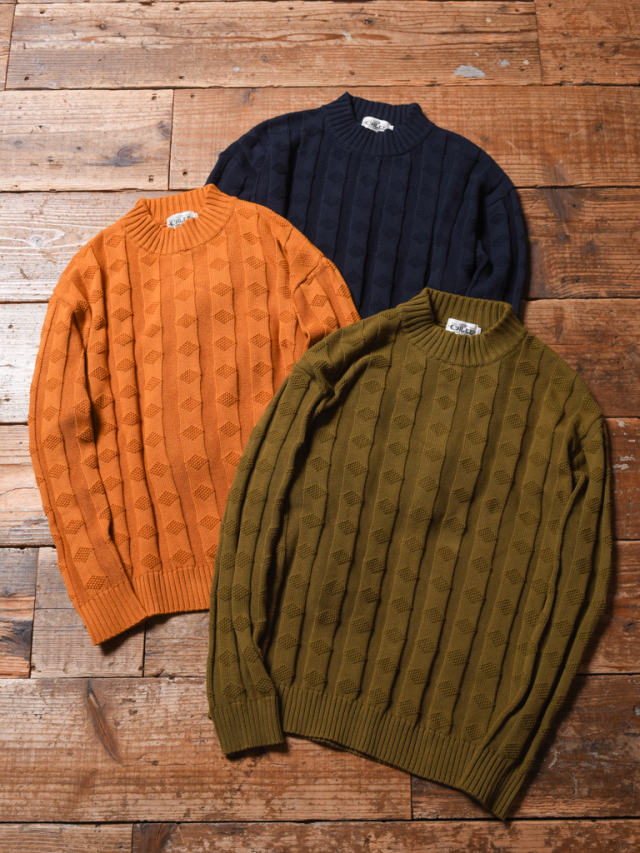 CALEE  「MOCK NECK JACQUARD KNIT SWEATER」 モックネック ニットセーター