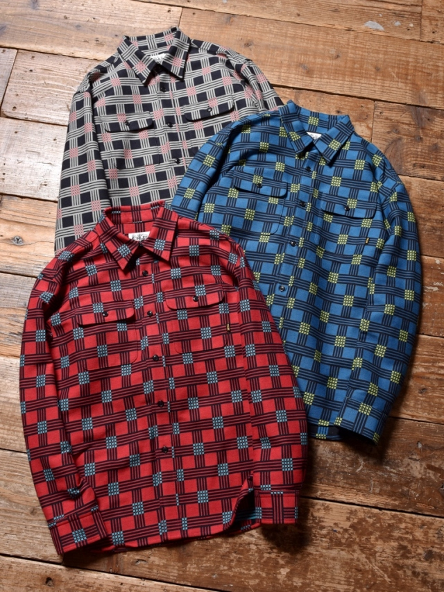 CALEE  「DOUBLE DOBBY L/S CHECK SHIRT」 ドビーチェックシャツ