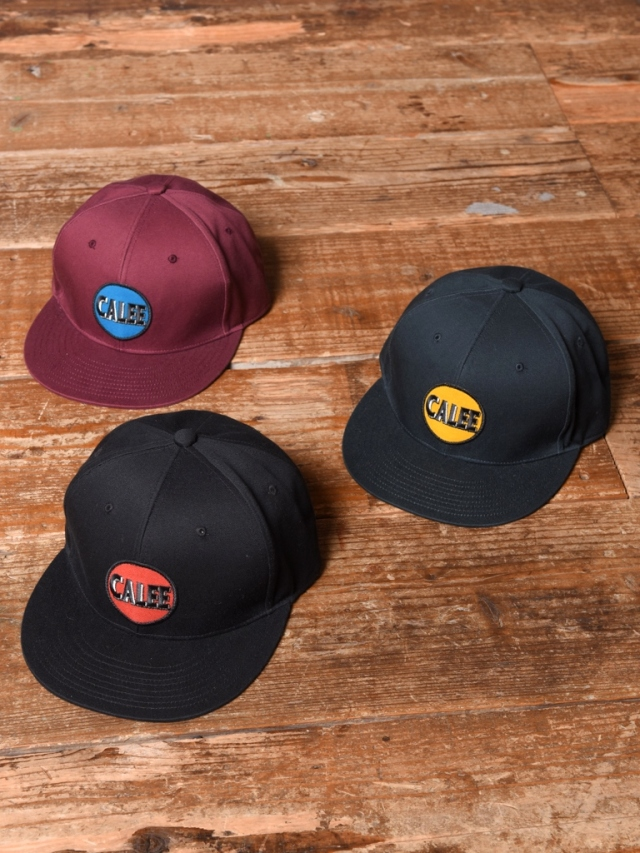 CALEE  「COTTON TWILL WAPPEN CAP」  コットンツイルワッペンキャップ