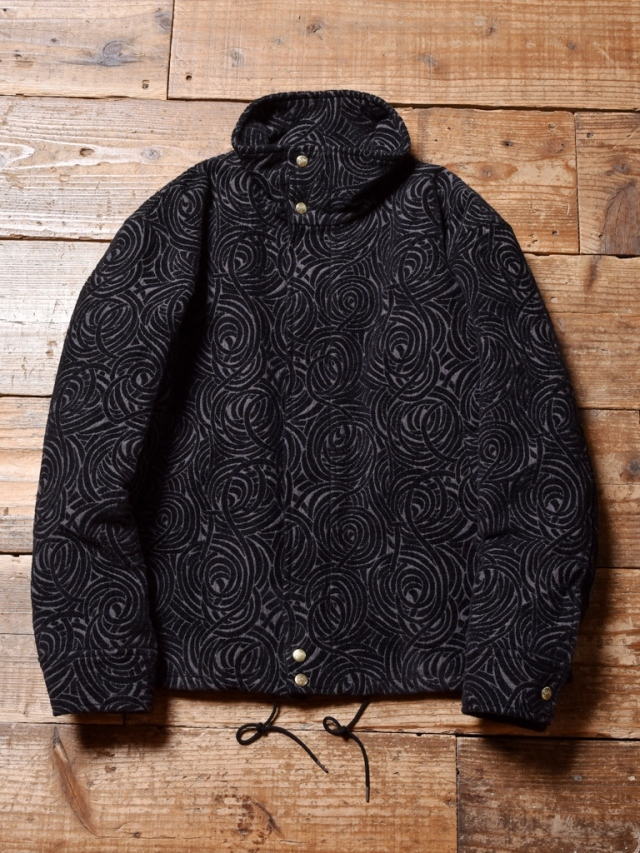 CALEE  「ALLOVER SPIRAL PATTERN STAND COLLAR JACKET」 ジャガード スタンドカラージャケット
