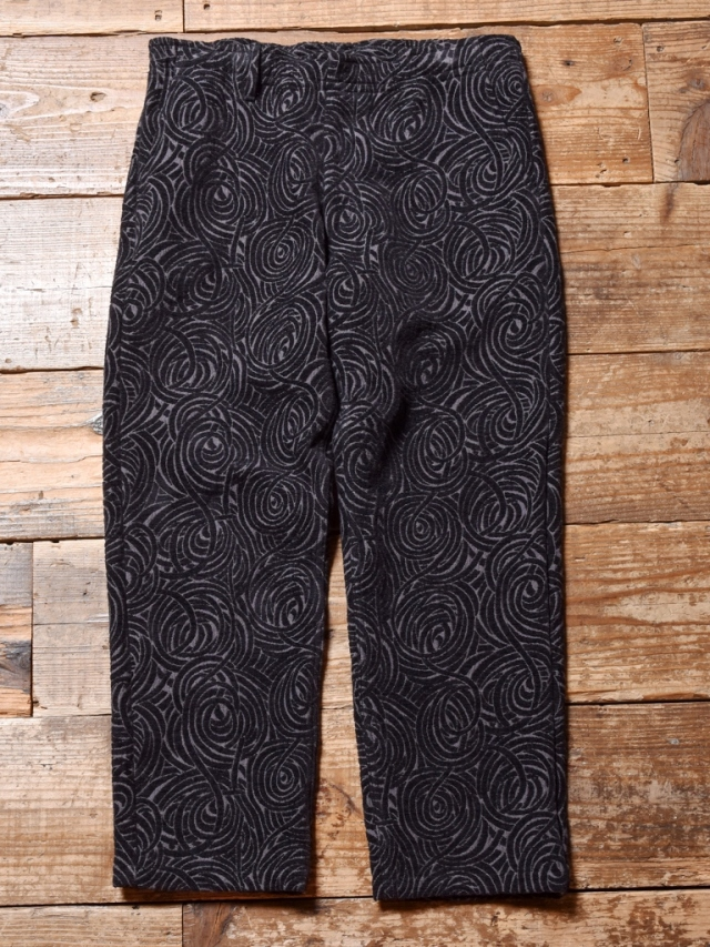 CALEE  「ALLOVER SPIRAL PATTERN PANTS」 ジャガード パンツ