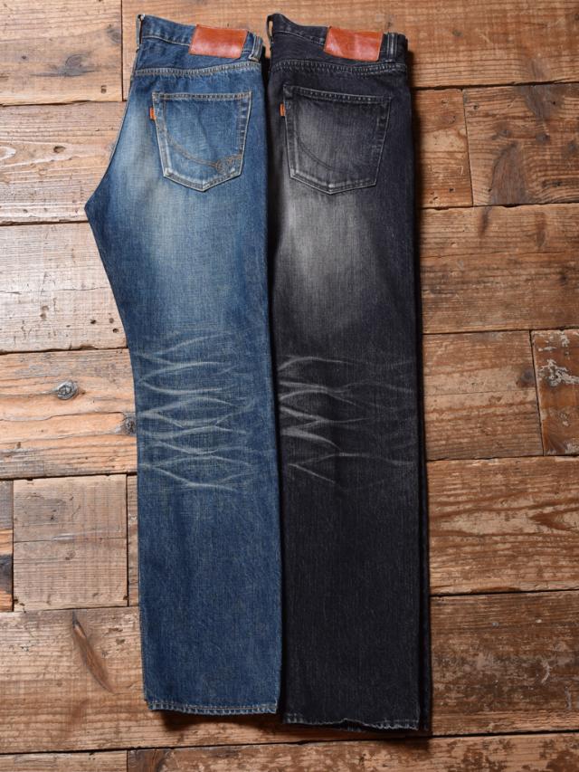 CALEE  「USED TAPERED SLIM DENIM PANTS」 USED加工テーパードスリムデニムパンツ
