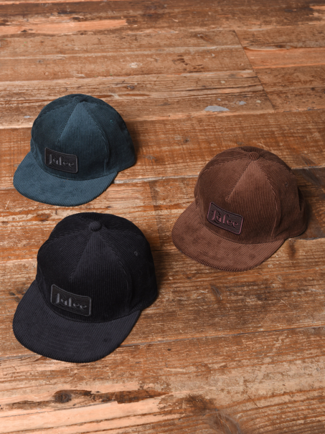 CALEE  「CORDUROY LEATHER WAPPEN CAP」  コーデュロイワッペンキャップ