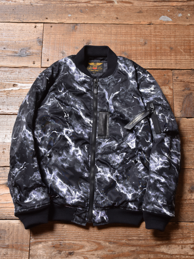 CALEE    「MARBLE PATTERN MA-1 TYPE JACKET」 MA-1ジャケット