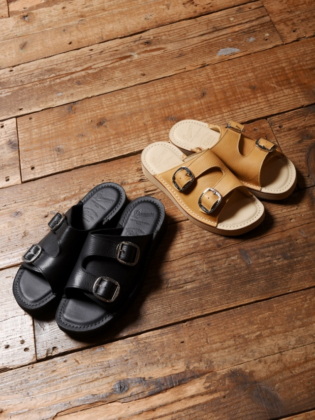 CALEE × DANNER   「DOUBLE BELT LEATHER SANDALS」  レザーサンダル
