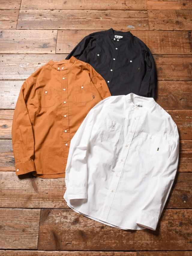 CALEE  「BAND COLLAR L/S SHIRT」 バンドカラーシャツ