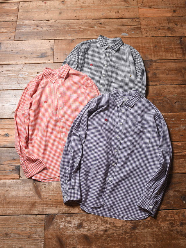 CALEE  「GINGHAM CHECK B.D L/S SHIRTS」  ギンガムチェック ボタンダウンシャツ
