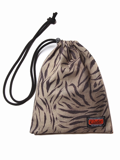 CALEE  「TIGER COMBINATION PATTERN DRAWSTRING BAG」  タイガーコンビネーションパターン ポーチ