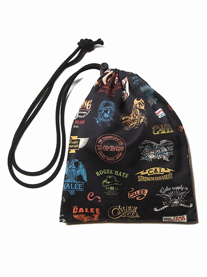 CALEE  「ALLOVER ARCHIVE LOGO PATTERN DRAWSTRING BAG」  アーカイブロゴポーチ