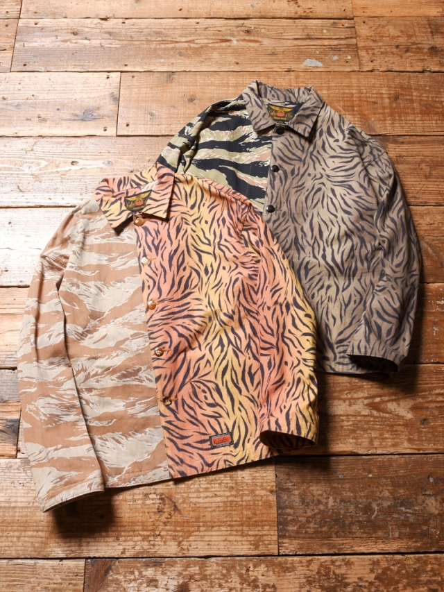 CALEE  「TIGER COMBINATION PATTERN JACKET」  タイガーコンビネーションパターン ジャケット