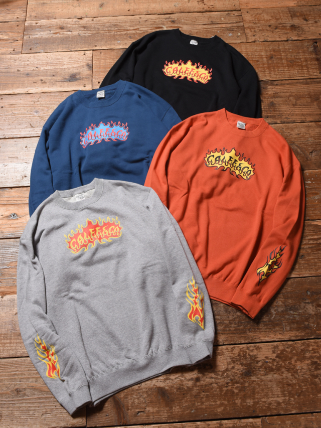 CALEE  「FLAME LOGO CREW NECK SWEAT 」 クルーネックスウェット