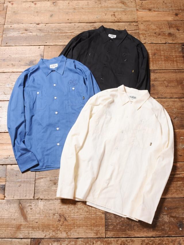 CALEE  「DOBBY STRIPE L/S SHIRT」    ドビーストライプシャツ