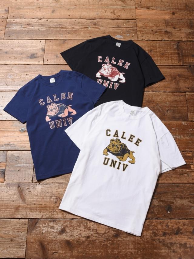 CALEE  「BULL DOG T-SHIRT 」    プリントティーシャツ