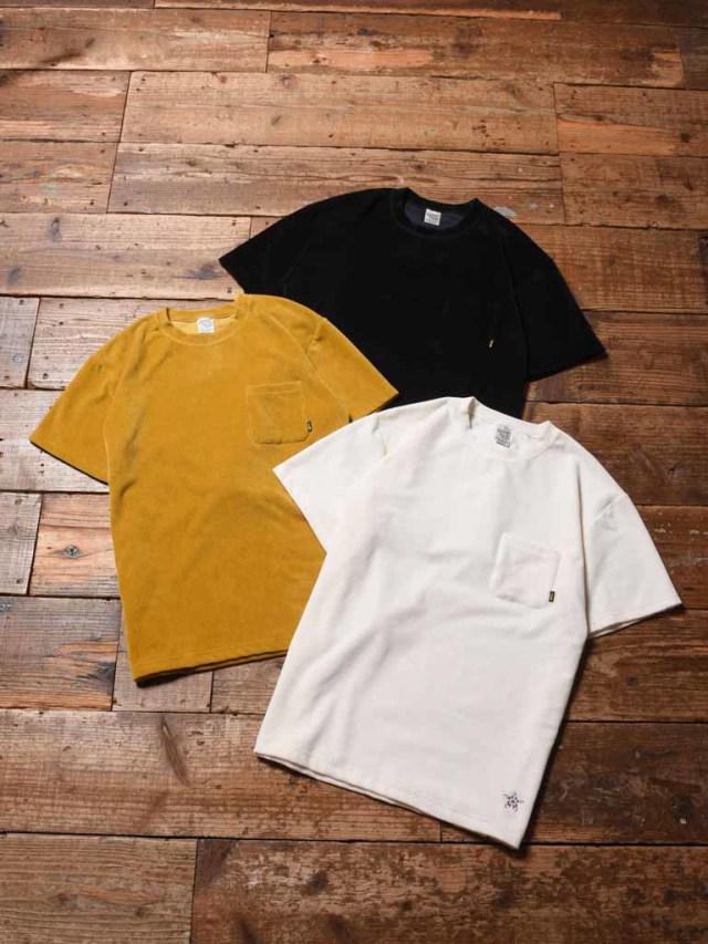 CALEE  「CORDUROY S/S T-SHIRT 」    コーデュロイポケットティーシャツ