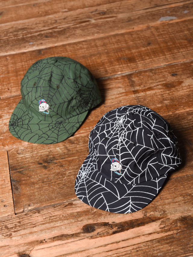 CALEE   「ALLOVER SPIDERWEB PATTERN CAP 」    ナイロンキャップ