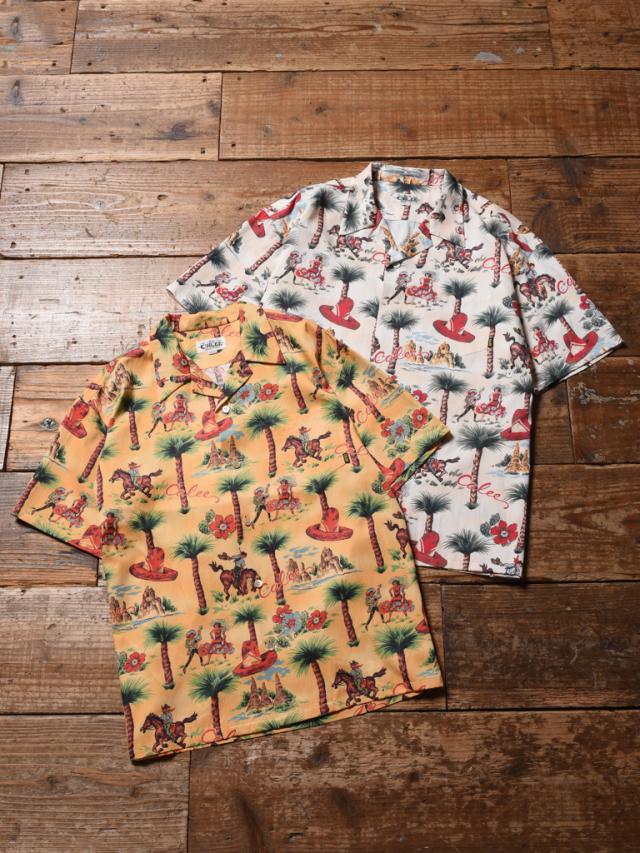 CALEE  「ALLOVER WESTERN PATTERN S/S SHIRT」    ウエスタン柄オープンカラーシャツ