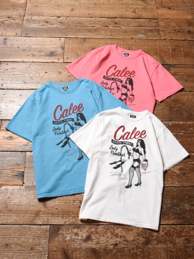 CALEE  「BINDER NECK LADY PUNISHER T-SHIRT 」    プリントティーシャツ