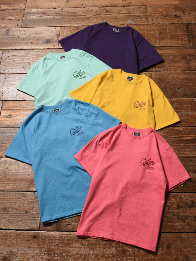 CALEE  「BINDER NECK COLOR T-SHIRT 」    カラーティーシャツ
