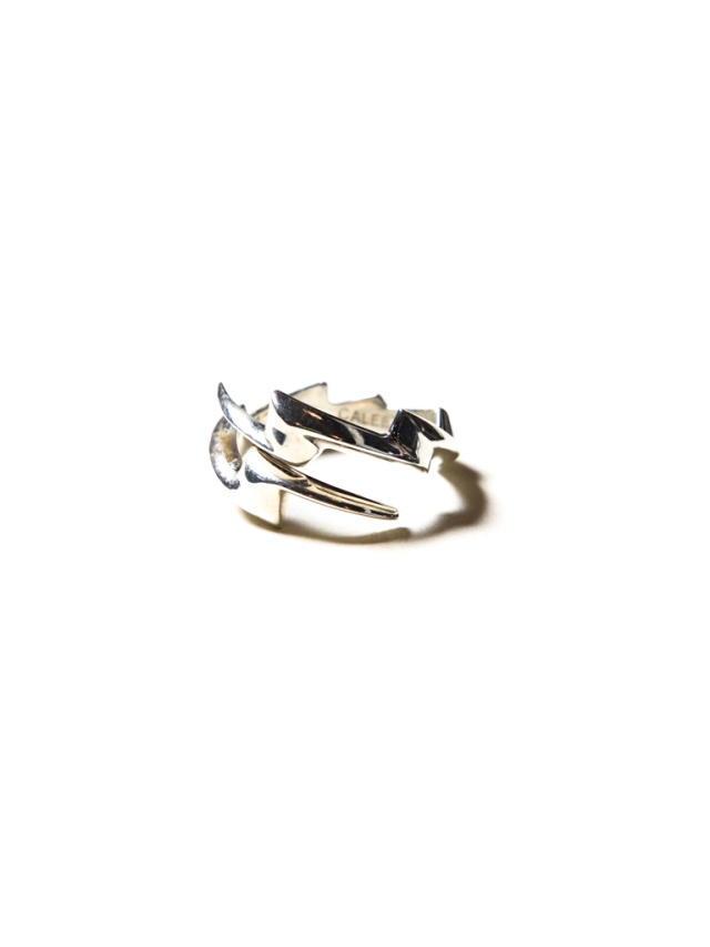 CALEE 「THUNDERBOLT SILVER RING」 SILVER 925製 リング