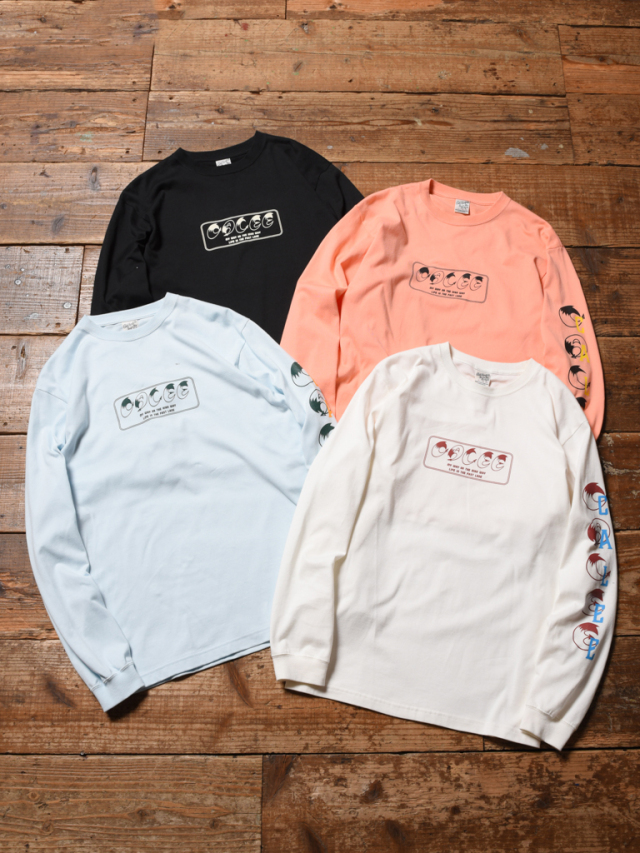 CALEE  「CALEE BOX LOGO L/S T-SHIRT」  プリントロンティー