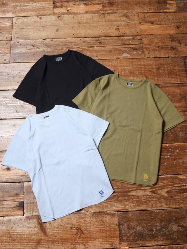 CALEE  「PIQUE JACQUARD 40S BINDER NECK T-SHIRT 」    ピケジャガードティーシャツ