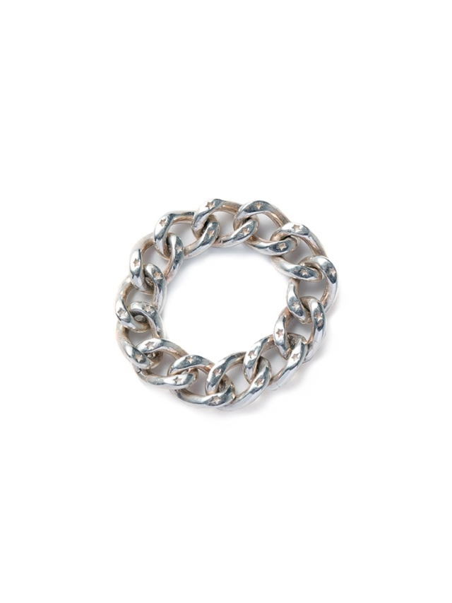 CALEE   「SILVER CHAIN RING」 SILVER 925製 チェーンリング