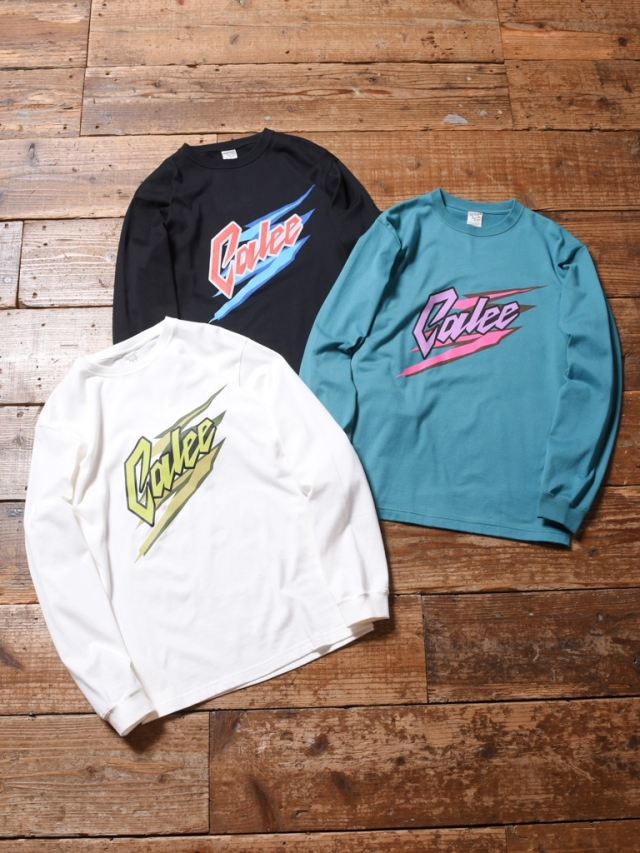 CALEE  「LOGO PRINT L/S T-SHIRT」  プリントロンティー