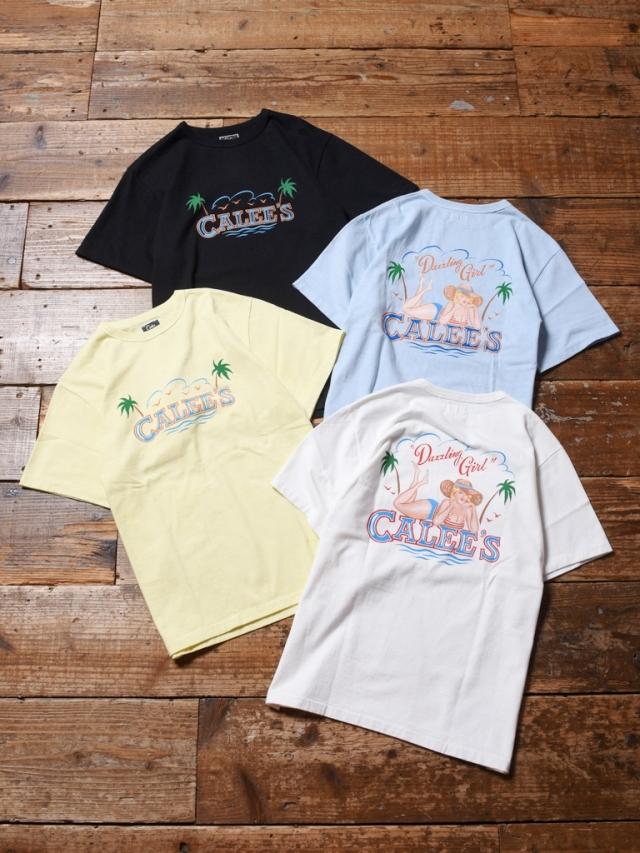 CALEE   「BINDER NECK PIN-UP GIRL VINTAGE T-SHIRT 」    プリントティーシャツ