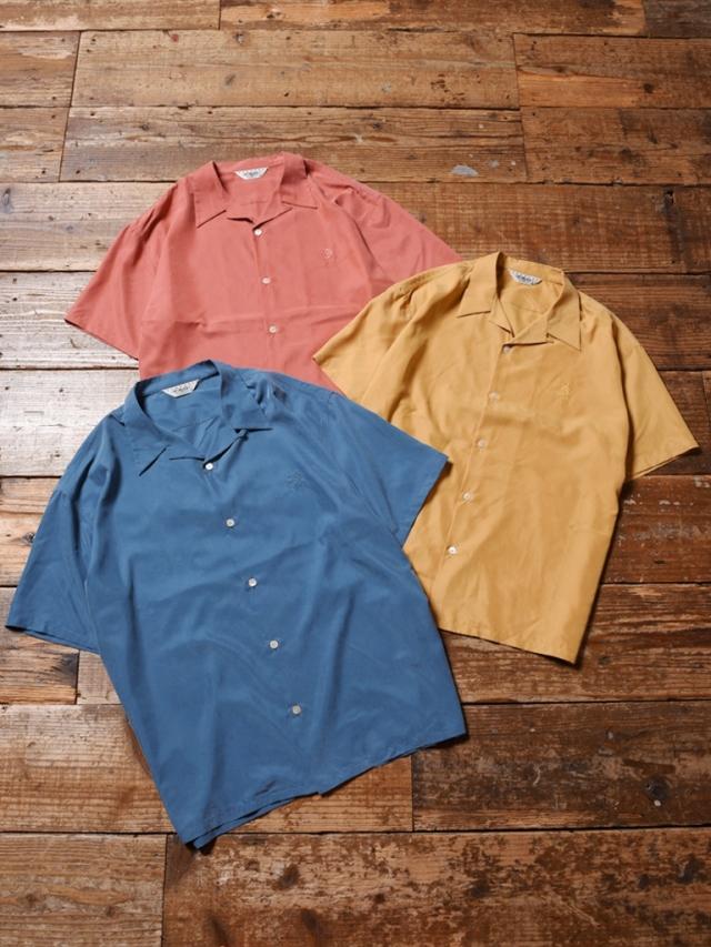 CALEE  「NO POCKET SMOOTH S/S SHIRT」 オープンカラーシャツ