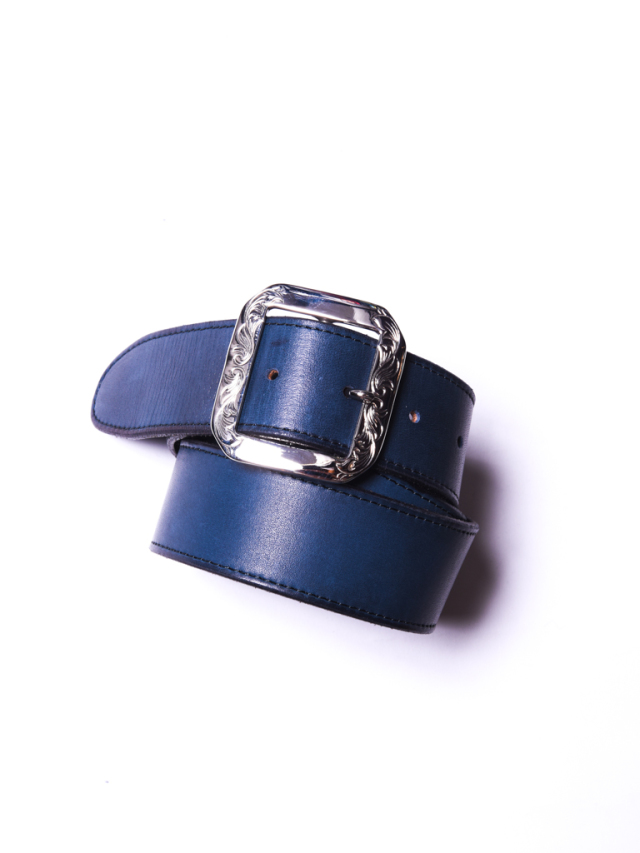 CALEE   「INDIGO LEATHER BELT」  レザーベルト