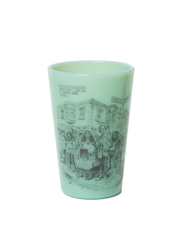 COOTIE   「 Tea House Tumbler (HAIGHT ASHBURY) 」 オールドミルクグラス
