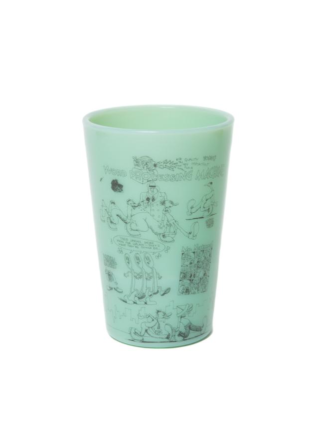 COOTIE   「 Tea House Tumbler (WORD PROCESSING MACHINE) 」 オールドミルクグラス