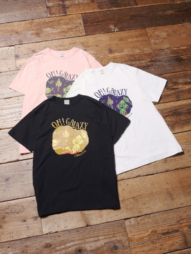 CALEE  「 WASHED GALAXY T-SHIRT 」    プリントティーシャツ