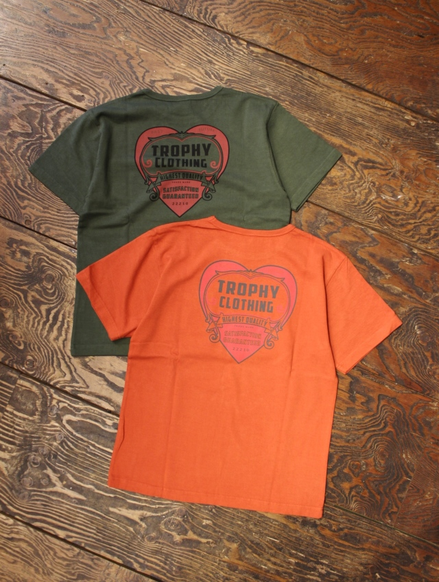 TROPHY CLOTHING  「Heart OD Tee」  ボリュームコットン ティーシャツ