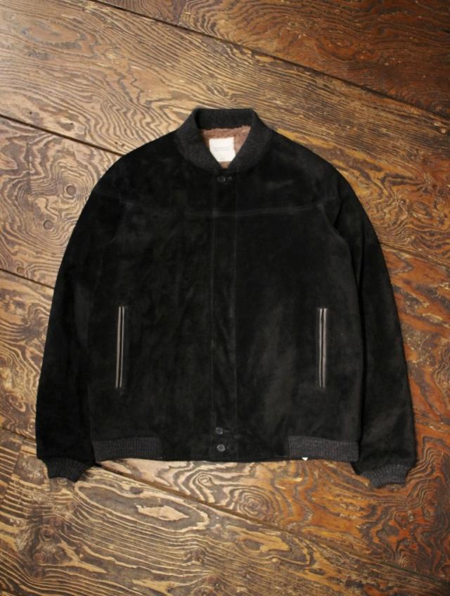 RADIALL  「SYNDICATE - VARSITY JACKET <BLACK>」  スウェードバーシティジャケット