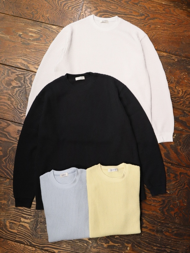 RADIALL  「BIG WAFFLE - CREW NECK T-SHIRT L/S」  ワッフルロンティー
