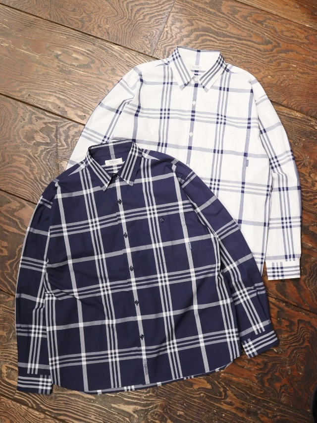 RADIALL  「CIVIC - REGULAR COLLARED SHIRT L/S」  チェックシャツ