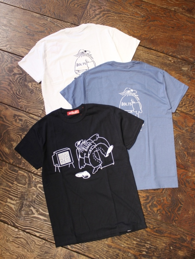 BONES & BOLTS  「TEE (DOWN NOT OUT)」 ティーシャツ