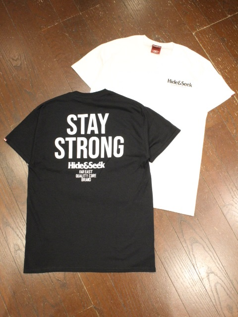 HIDEANDSEEK 「STAY STRONG S/S Tee」 ポケットティーシャツ