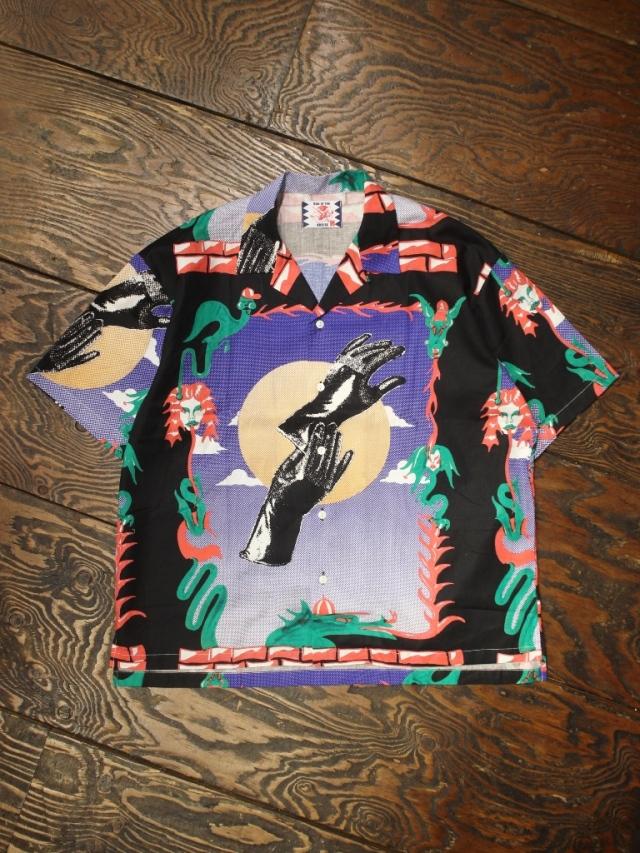 SON OF THE CHEESE × Sam Ryser   「Hands Shirts 」  オープンカラーシャツ