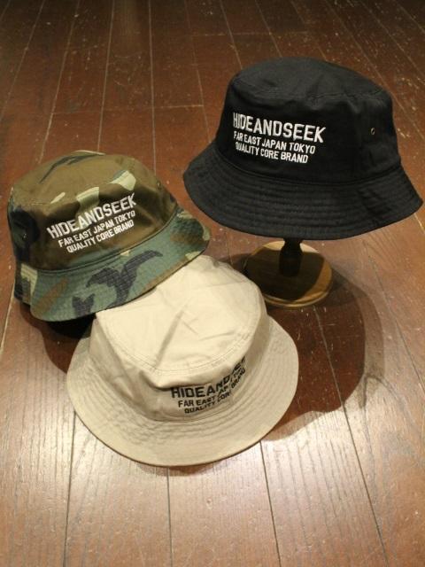 HIDEANDSEEK 「Logo Crusher Hat」 バケットハット