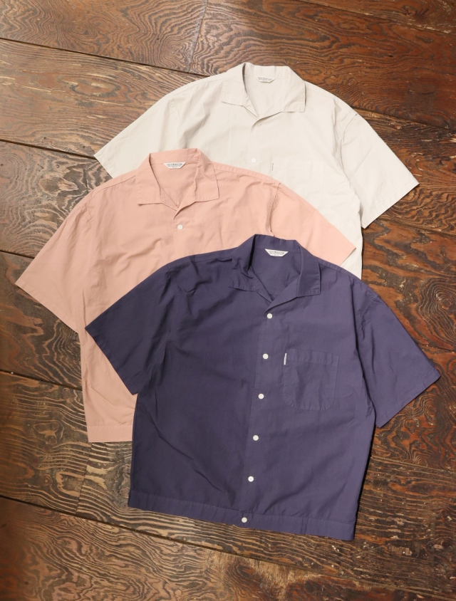 COOTIE  「 Garment Dyed C/L Open-Neck S/S Shirt 」 イタリアンカラーシャツ