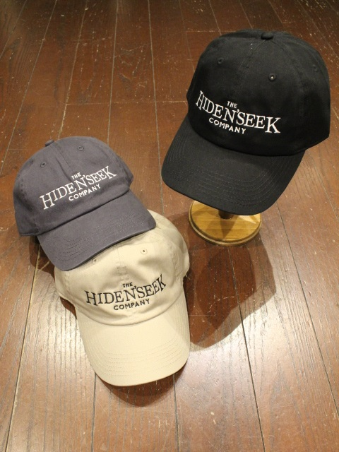 HIDEANDSEEK 「THE HS COMPANY CAP」 コットンキャップ