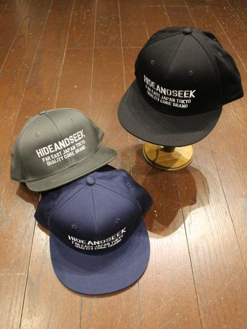 HIDEANDSEEK 「Logo Baseball CAP」 ベースボールキャップ